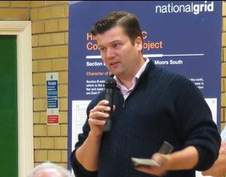 James Heappey speaks at Hinkley Connection Project public consultation meeting