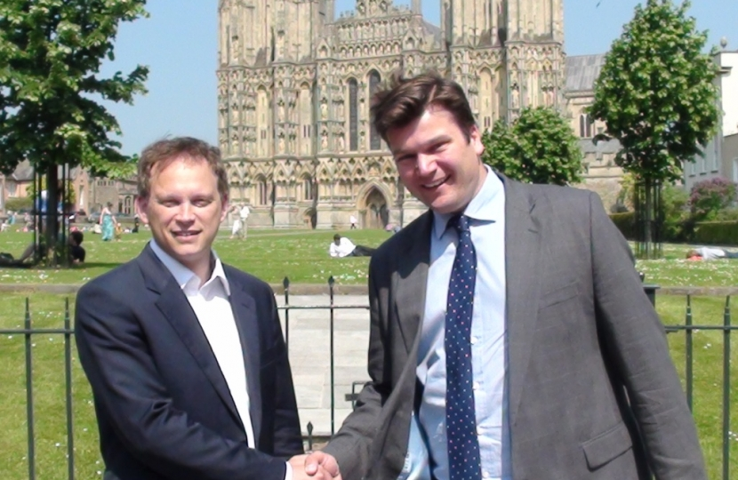 James Heappey with Grant Shapps in Wells
